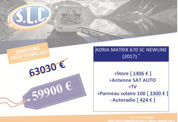Adria Matrix 670 Sc New Line Edition
