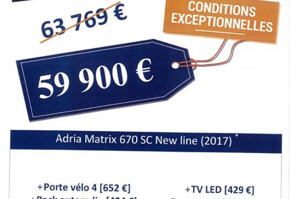 Adria Matrix 670 Sc New Line Edition