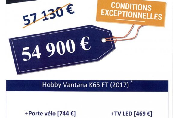 Neuf Hobby Vantana K 65 T vendu par SLC 37