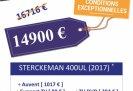 achat caravane / mobil home Sterckeman Starlett 400 Ul Confort SLC 37