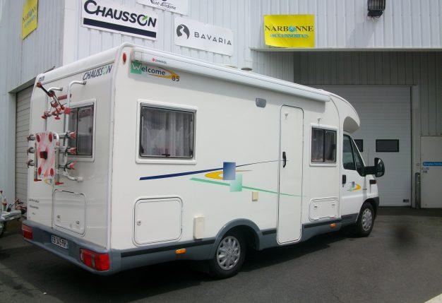chausson welcome 85 occasion de 2003 citroen camping car en vente cholet maine et loire 49. Black Bedroom Furniture Sets. Home Design Ideas