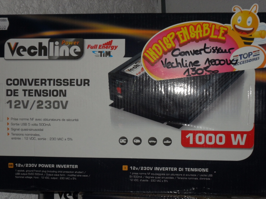 carlos loisirs 91 convertisseur convertisseur 1000w 230v 12v annonces occasion. Black Bedroom Furniture Sets. Home Design Ideas