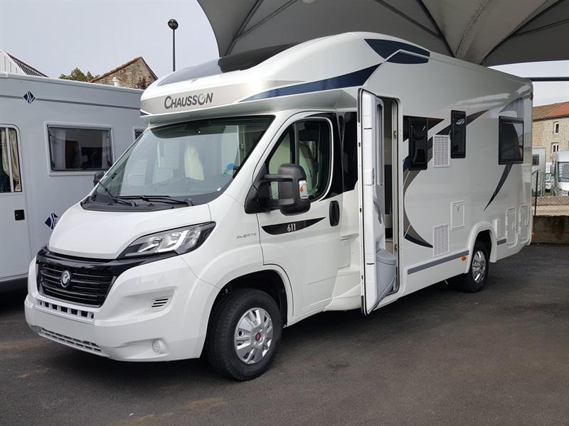 chausson 611 travel line neuf de 2017 fiat camping car en vente montfaucon en velay haute. Black Bedroom Furniture Sets. Home Design Ideas