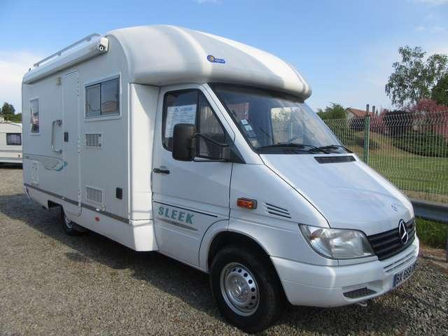 elnagh sleek 542 occasion de 2002 mercedes camping car en vente toulon sur allier allier 03. Black Bedroom Furniture Sets. Home Design Ideas