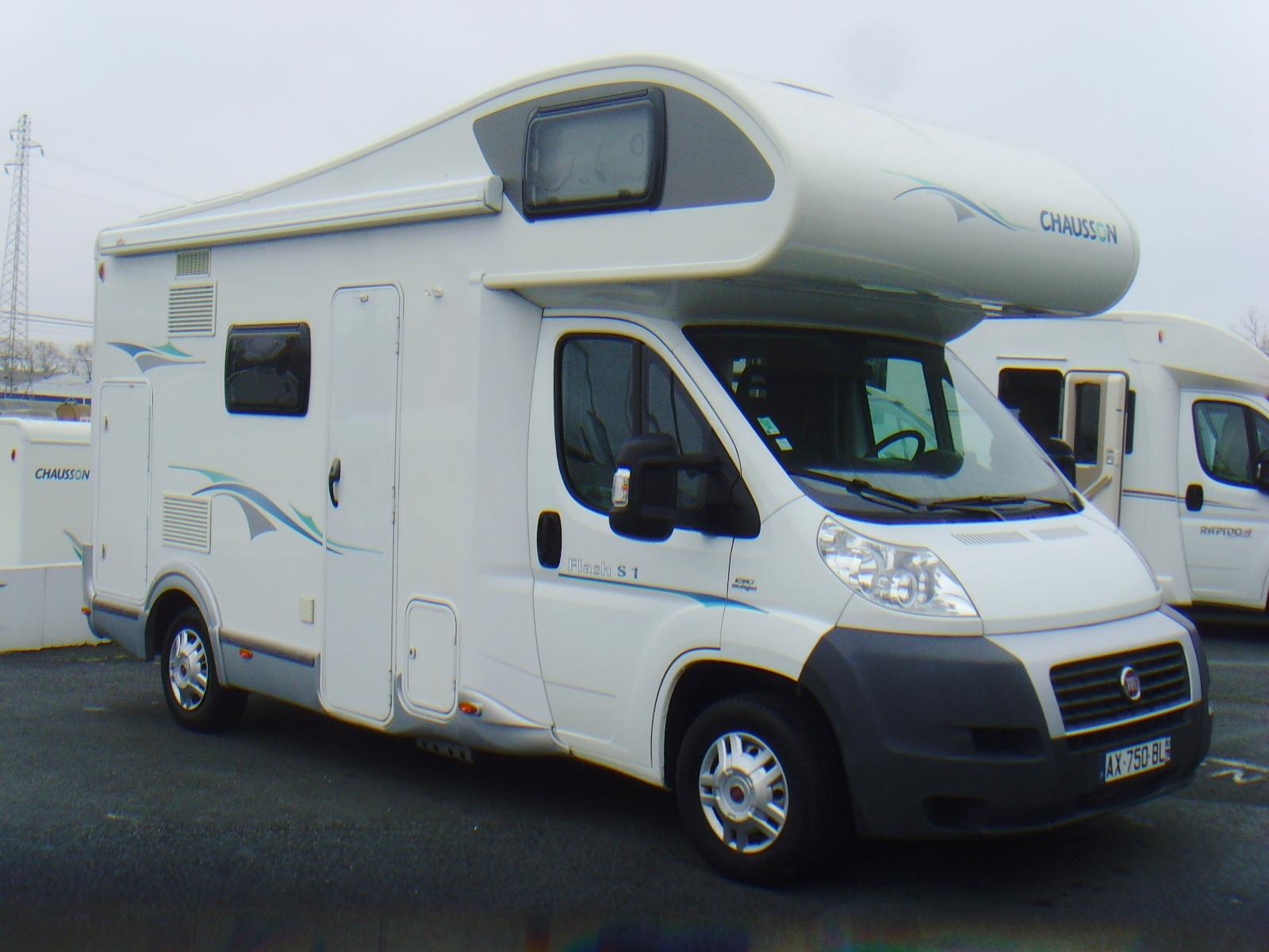 chausson flash s1 occasion de 2010 fiat camping car en vente bayonne pyrenees atlantiques 64. Black Bedroom Furniture Sets. Home Design Ideas