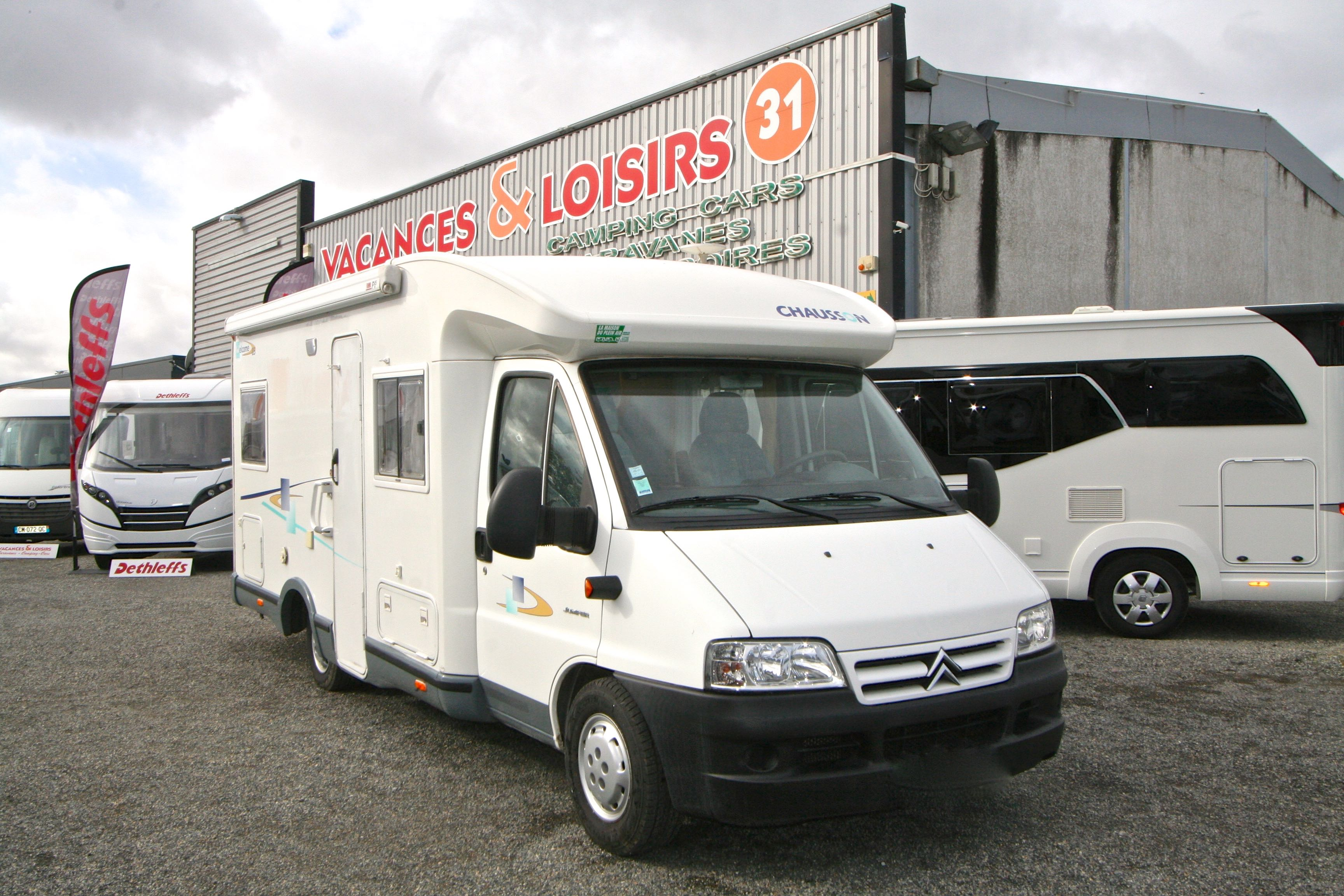 chausson welcome 85 occasion de 2005 citroen camping. Black Bedroom Furniture Sets. Home Design Ideas