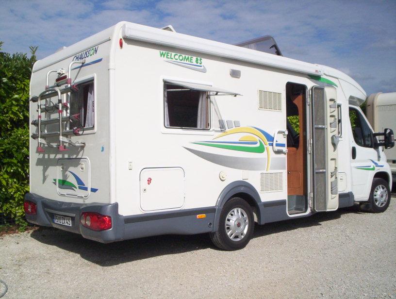 chausson welcome 85 occasion de 2008 fiat camping car en vente saint pouange troyes aube. Black Bedroom Furniture Sets. Home Design Ideas