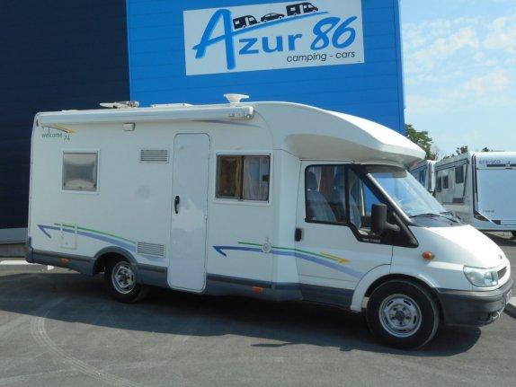 chausson welcome 74 occasion de 2006 ford camping car en vente migne auxances vienne 86. Black Bedroom Furniture Sets. Home Design Ideas