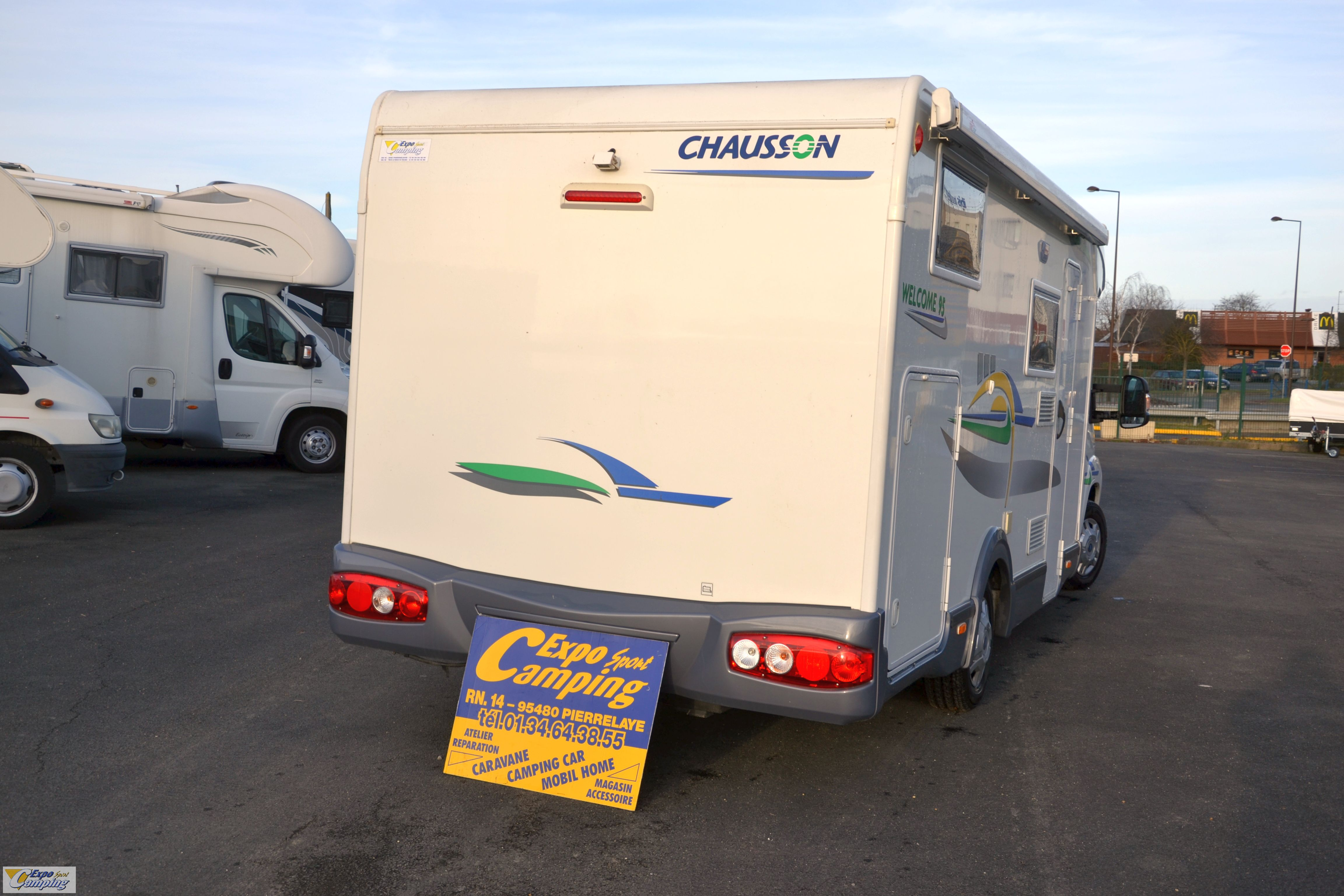 chausson welcome 95 occasion de 2007 fiat camping car en vente pierrelaye val d oise 95. Black Bedroom Furniture Sets. Home Design Ideas