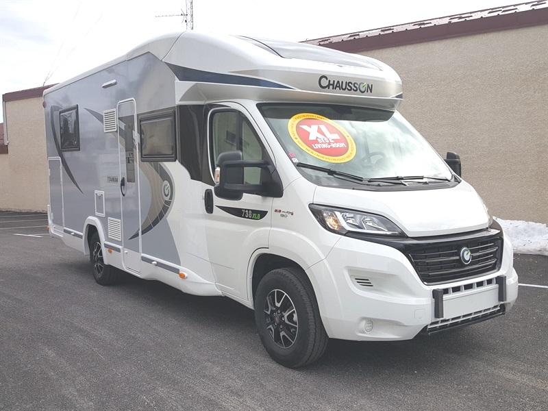 chausson titanium 738 xlb neuf de 2017 fiat camping car en vente berck sur mer pas de. Black Bedroom Furniture Sets. Home Design Ideas
