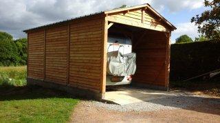 Garage Garage Camping Car en bois