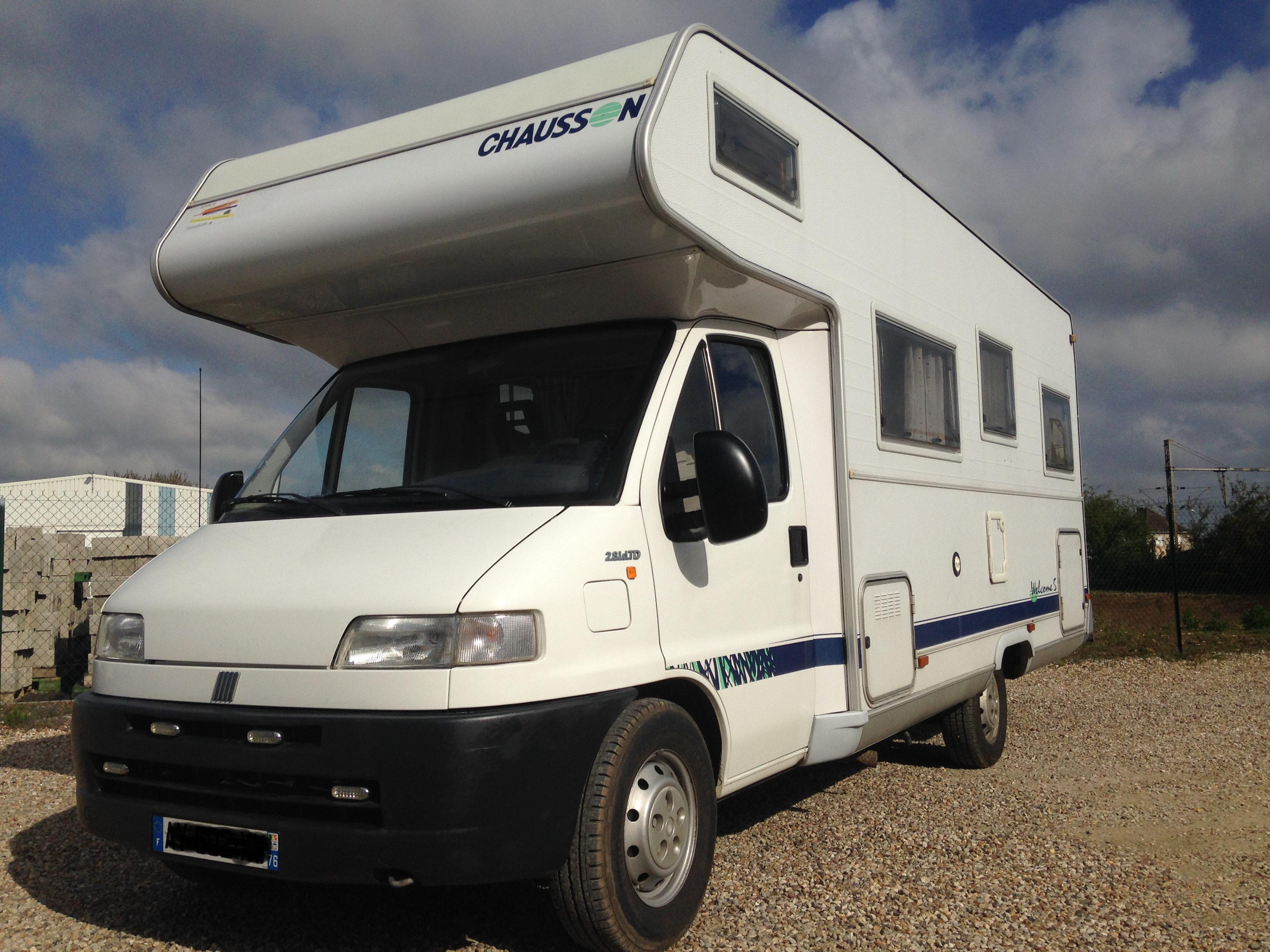 chausson welcome 5 occasion porteur ducato fiat ducato 2 8 idtd camping car vendre en eure. Black Bedroom Furniture Sets. Home Design Ideas