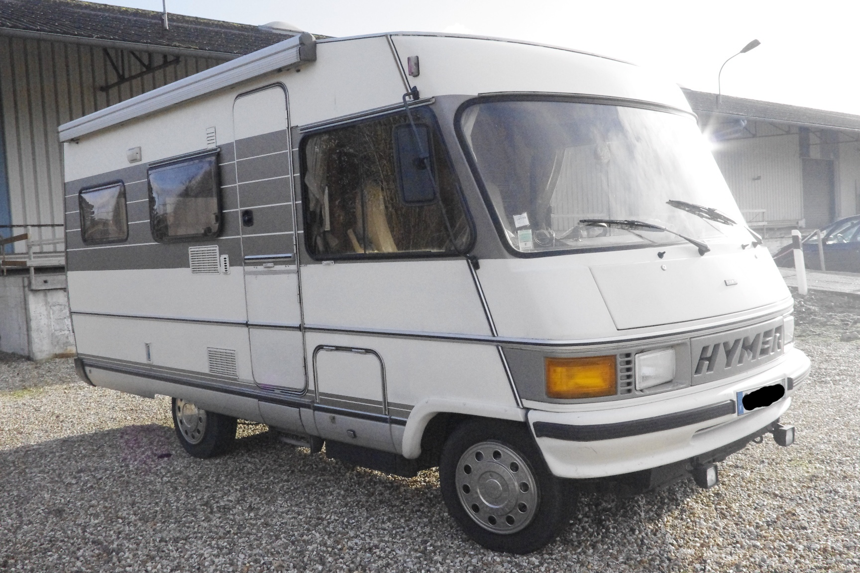 hymer b 594 occasion de 1990 fiat camping car en vente aubevoye eure 27. Black Bedroom Furniture Sets. Home Design Ideas