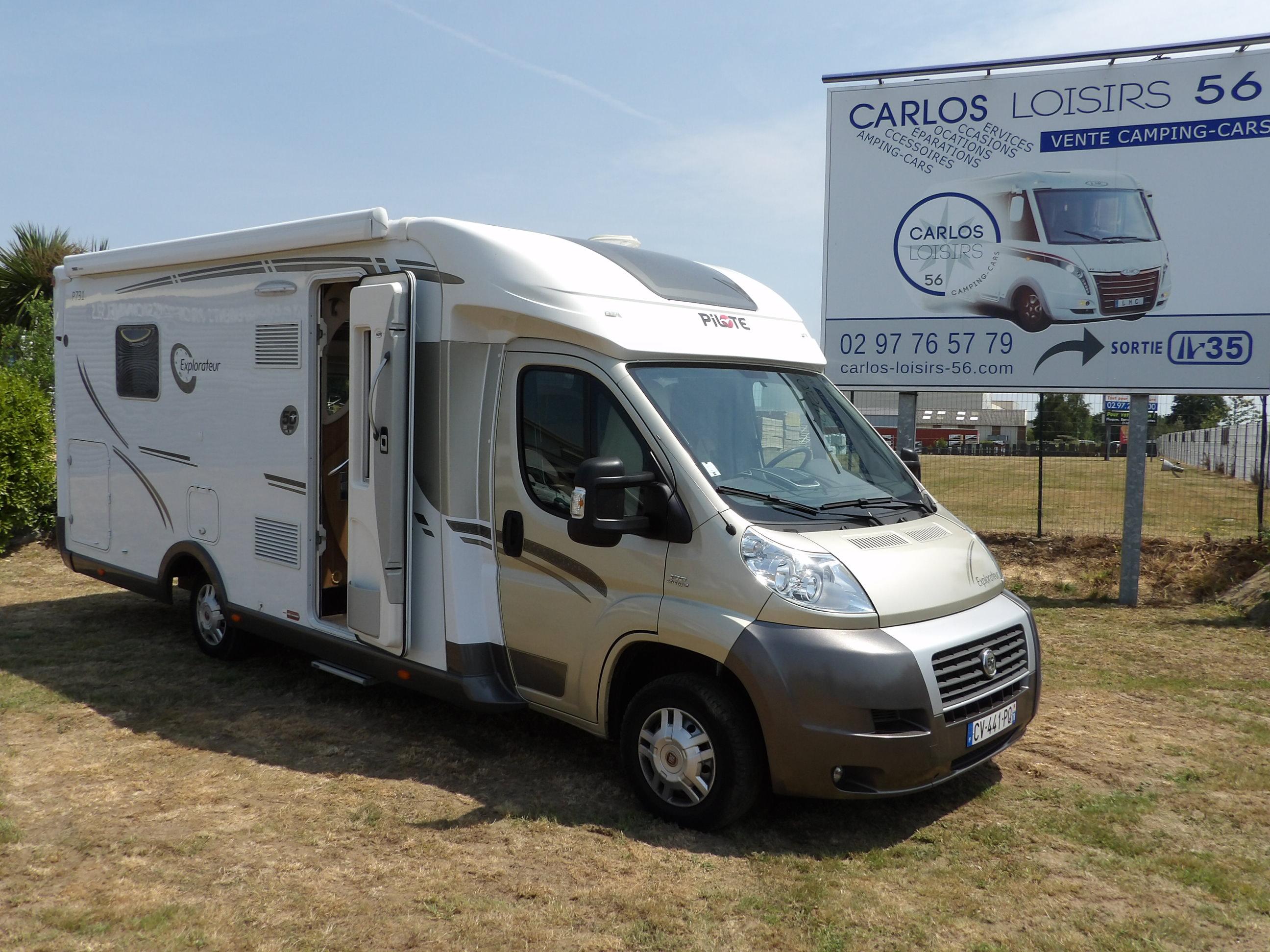 pilote p 731 lce occasion de 2013 fiat camping car en vente locoal mendon morbihan 56. Black Bedroom Furniture Sets. Home Design Ideas