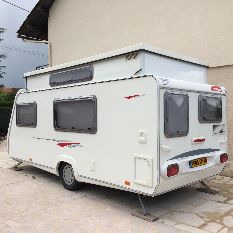 trigano 430 lj occasion de 2006 caravane en vente orval cher 18. Black Bedroom Furniture Sets. Home Design Ideas