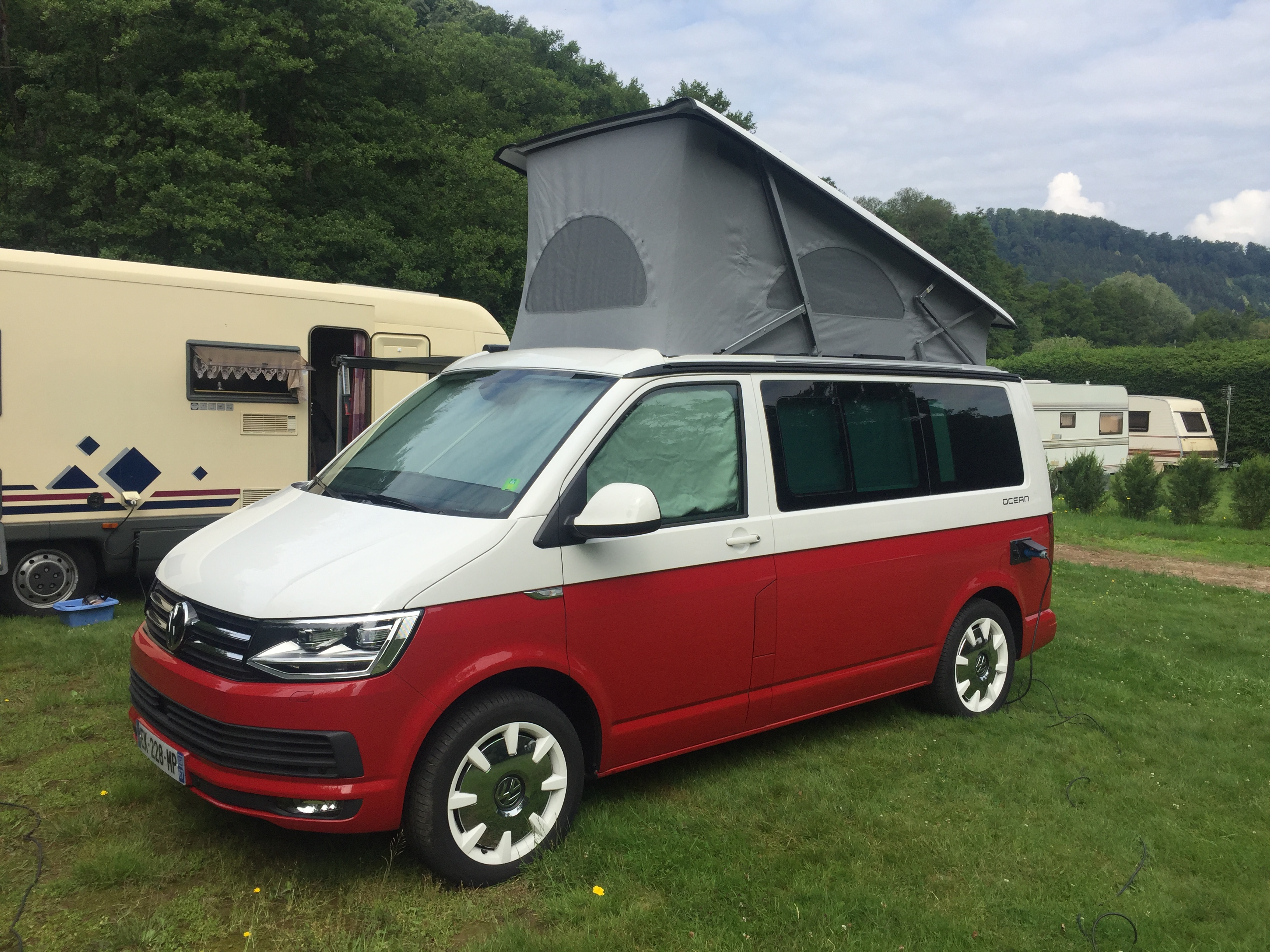 volkswagen california ocean occasion de 2017 vw camping car en vente strasbourg rhin 67. Black Bedroom Furniture Sets. Home Design Ideas