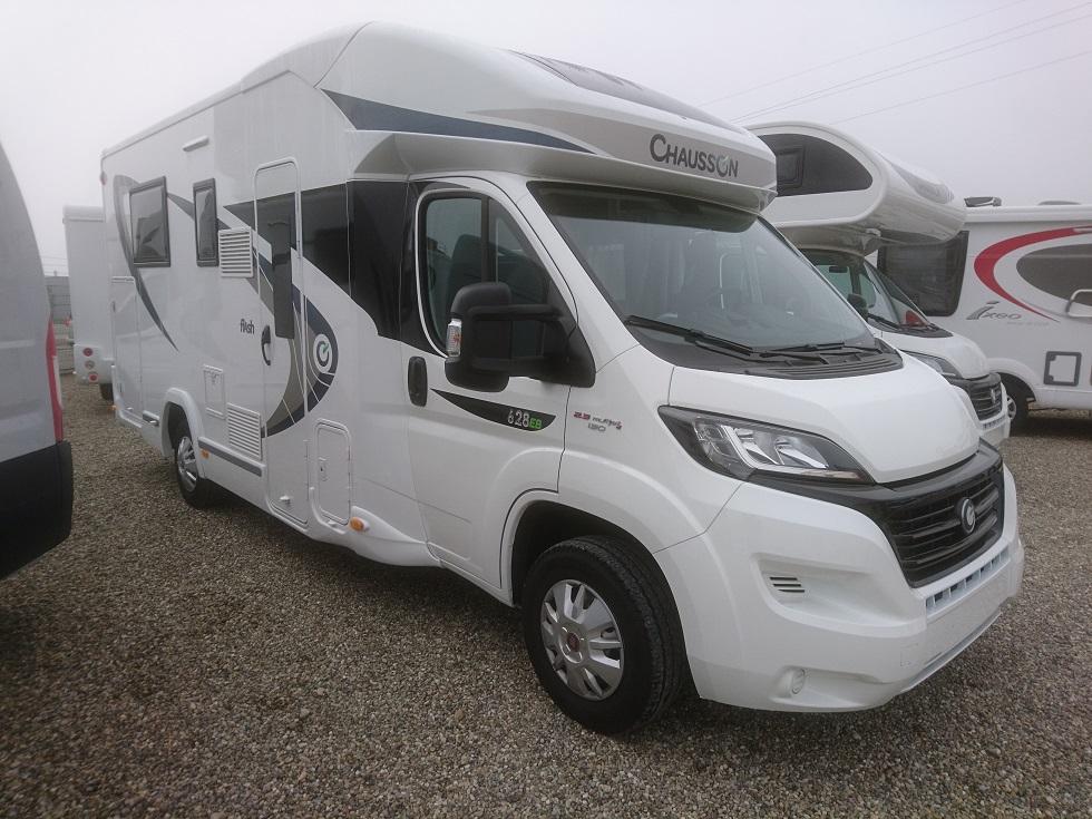 chausson flash 628 eb occasion de 2017 fiat camping car en vente bernolsheim rhin 67. Black Bedroom Furniture Sets. Home Design Ideas