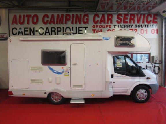 trigano carioca occasion de 2007 ford camping car en vente caen breteville sur odon. Black Bedroom Furniture Sets. Home Design Ideas