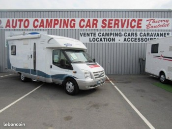 hobby siesta 600 occasion de 2009 ford camping car en vente caen breteville sur odon. Black Bedroom Furniture Sets. Home Design Ideas